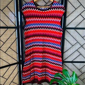 Eva Mendez, XL, Multi Colored, Zig Zag, Retro